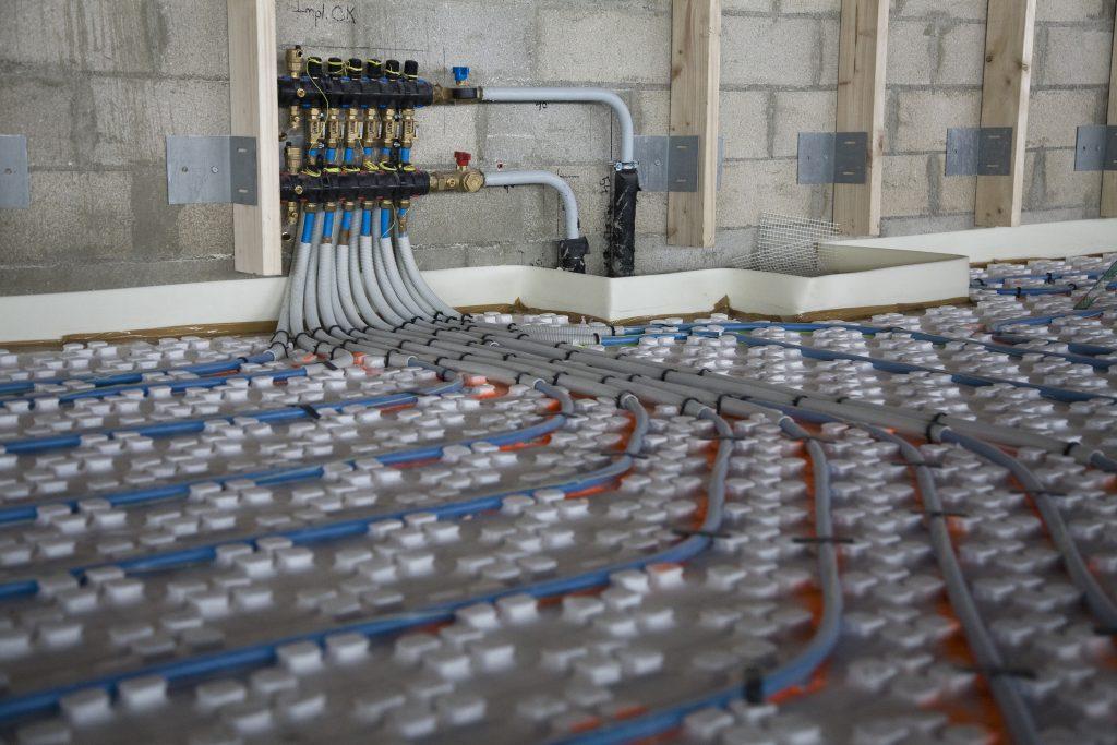 Thermacome, 1er système de planchers chauffants-rafraîchissants hydrauliques basse température – Chantier ADP S4 1