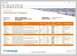 Thermacome, 1er système de planchers chauffants-rafraîchissants hydrauliques basse température – Chiffrage Acofast