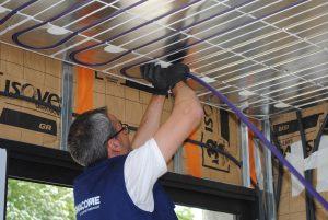 Thermacome, 1er système de planchers chauffants-rafraîchissants hydrauliques basse température – Confort Thermique pose de plafond