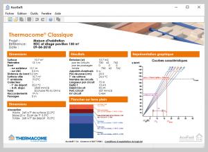 Thermacome, 1er système de planchers chauffants-rafraîchissants hydrauliques basse température – Etude détaillée Acosoft v2