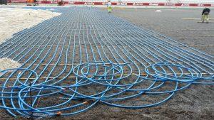 Thermacome, 1er système de planchers chauffants-rafraîchissants hydrauliques basse température – Chauffage Stade de Reims