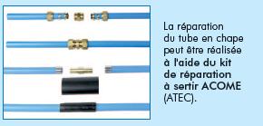 Thermacome, 1er système de planchers chauffants-rafraîchissants hydrauliques basse température – Famille C réparation tube