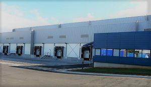 Thermacome, 1er système de planchers chauffants-rafraîchissants hydrauliques basse température – Entrepôt de Pleugueneuc