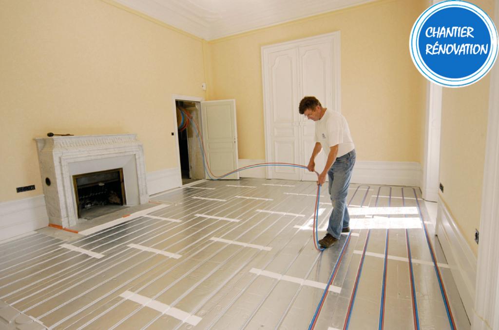 Thermacome, 1er système de planchers chauffants-rafraîchissants hydrauliques basse température – Transformation demeure en appartement