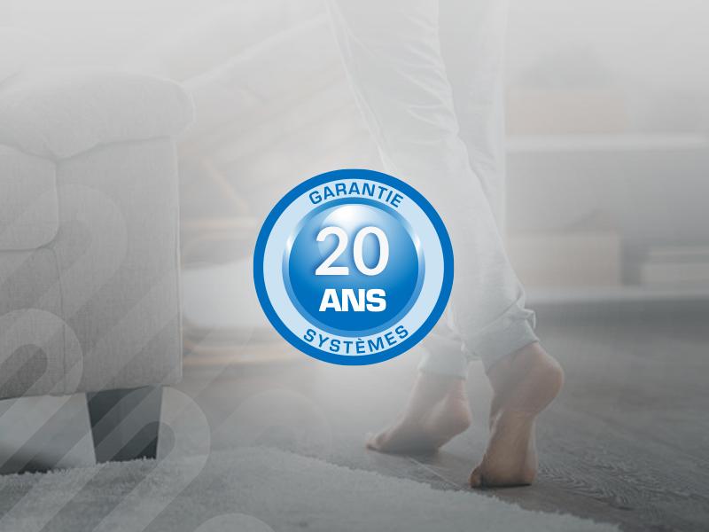 Sol chauffant  THERMACTIF : une garantie exclusive de 20 ans !