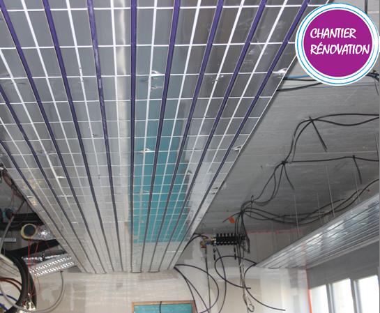 Thermacome, 1er système de planchers chauffants-rafraîchissants hydrauliques basse température – SDIS Batiment Plafond 2