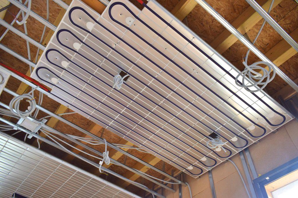 aménagement intérieur et plafond chauffant