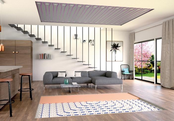plancher ou plafond chauffant