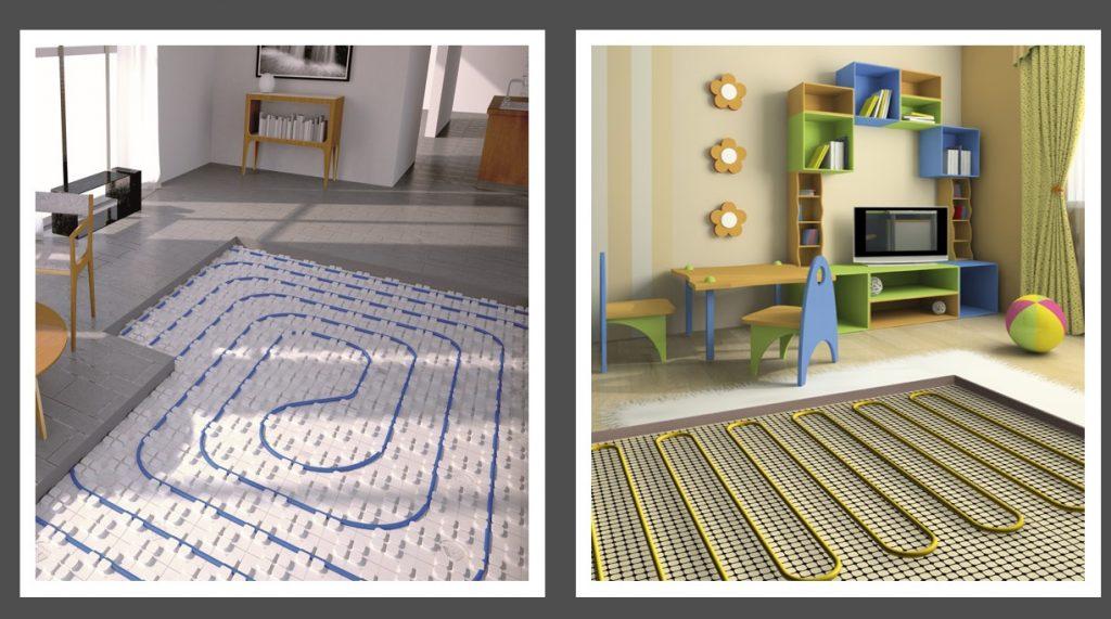 plancher chauffant électrique ou à eau