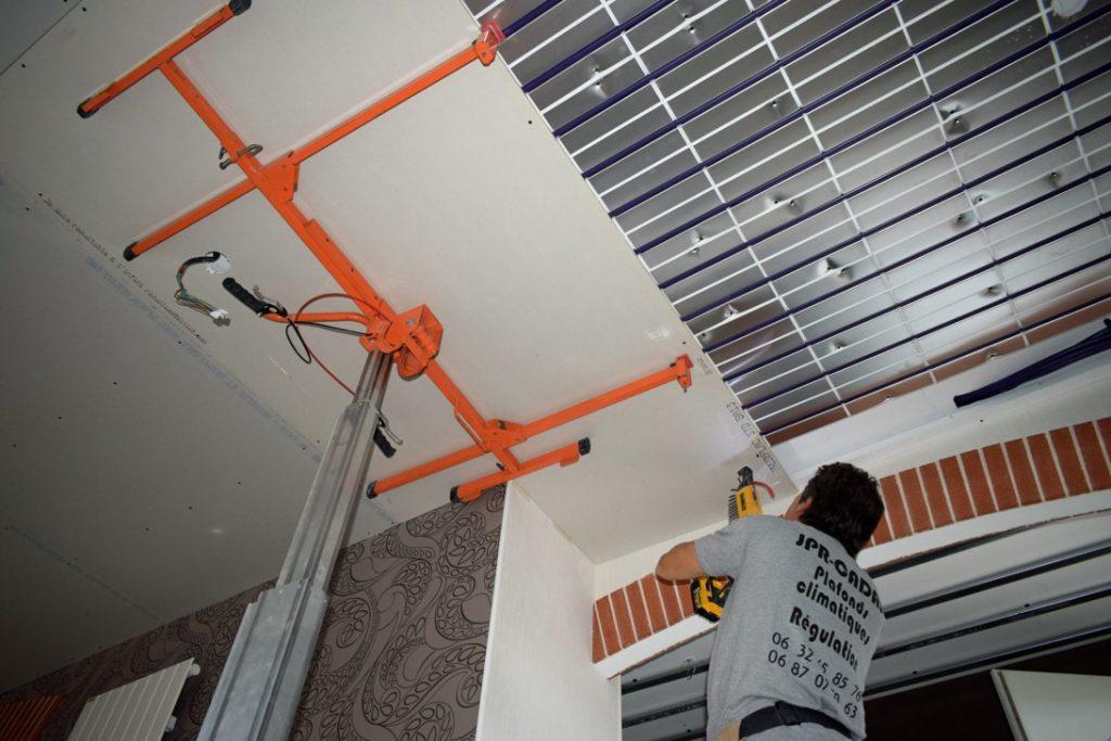 plafond chauffant en rénovation