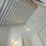 plafond chauffant en rénovation avec grande hauteur sous plafond