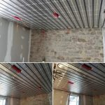 plafond chauffant en rénovation sur mur en pierre