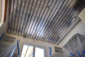 plafond rayonnant hydraulique, la pose du tube