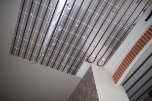 pose du BA13 placo sur plafond chauffant